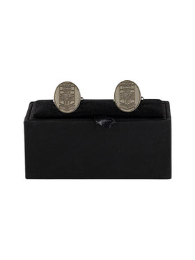 Silver Oval Cufflinks with UNSW logo