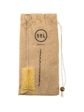 Bag and bottle cleaning brush for SOL Glass Bottle