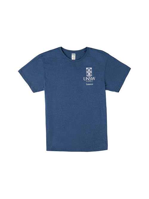 Blue t-shirt with the UNSW logo in white on the breast and Science text underneath