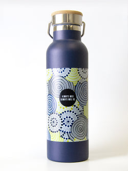 Always Was Always Will Be Metal Drink Bottle With Aboriginal Artwork