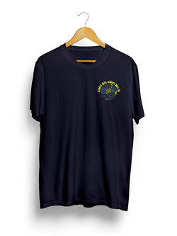 Always Was Always Will Be Navy Cotton T-Shirt With Aboriginal Artwork