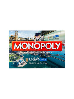 UNSW Monopoly box with UNSW and AGSM logos