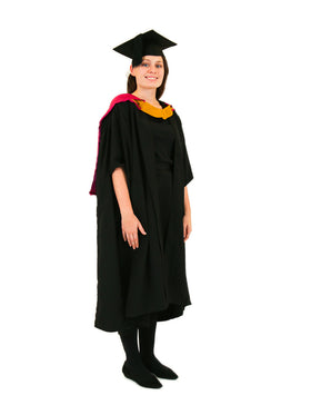 UNSW Graduation Master Set | Engineering, includes gown, cap & hood