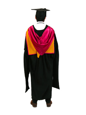 UNSW Graduation Master Set | Engineering, includes gown, cap & hood - Back view