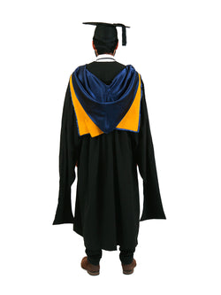 UNSW Graduation Master Set | Law, includes gown, cap & hood - Back view