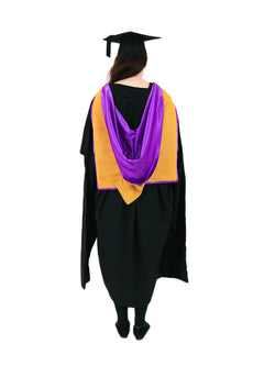 UNSW Graduation Master Set | Medicine, includes gown, cap & hood - Back view