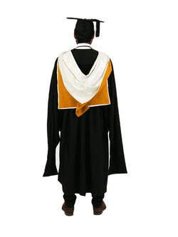 UNSW Graduation Master Set | Business, includes gown, cap & hood - Back view