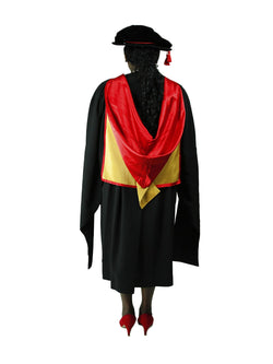 UNSW red and gold PHD Hood