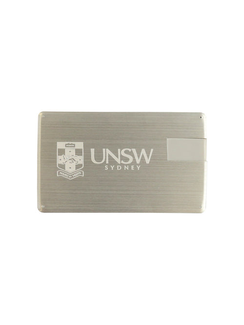 Credit Card sized USB stick with the UNSW logo