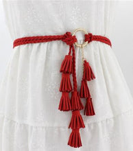 Load image into Gallery viewer, Liezel Braided Tassel Belt