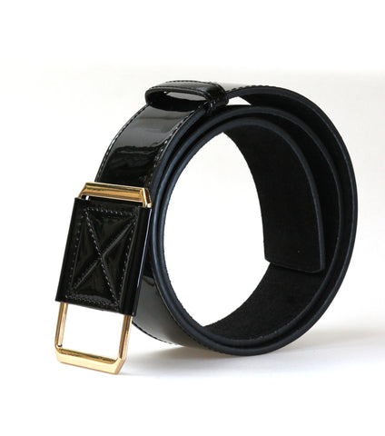 High Waist Leather Belt (Black)