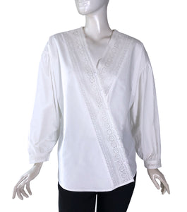 Ira Overisized V-neck Top with Lace