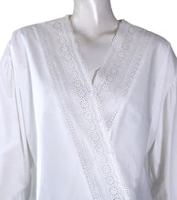 Load image into Gallery viewer, Ira Overisized V-neck Top with Lace