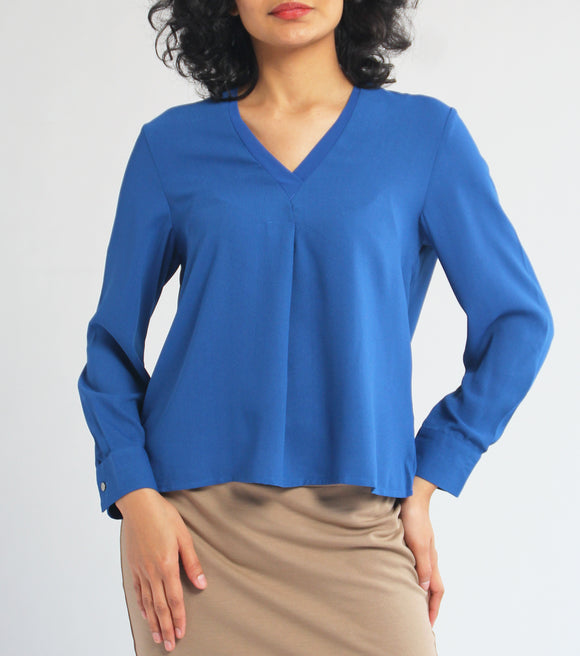 Cil Long Sleeves Crepe Top