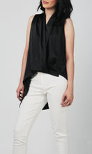 Load image into Gallery viewer, Ianna High Low Overlap Pleated Top