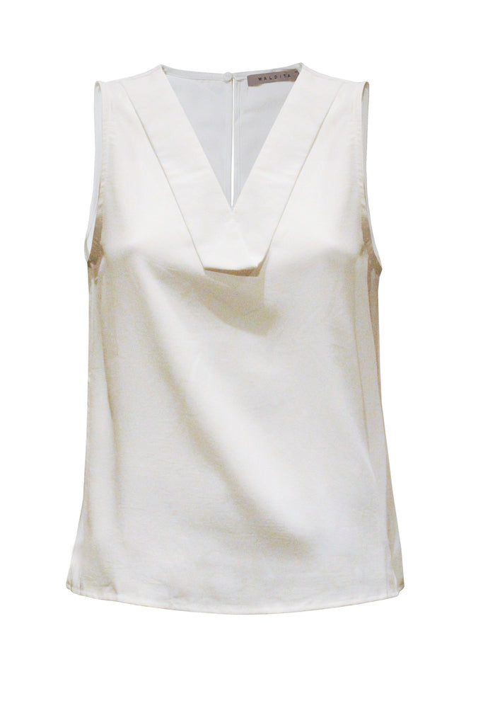 Jella Sleeveless V-Neck Blouse