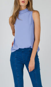 Jenna High Neck Sleeveless Top
