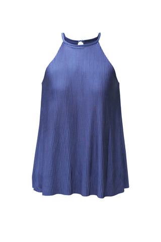 Isabelle Blue Haltered A-Cut Top