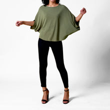 Load image into Gallery viewer, Erin Quarter Sleeve Oversized Blouse