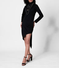 Load image into Gallery viewer, Louella Asymmetrical Turtle Neck Dress