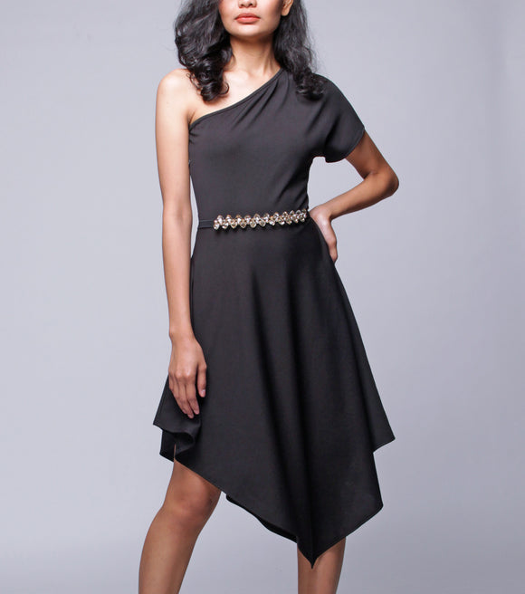 Jayla One Shoulder Asymmetrical Dress