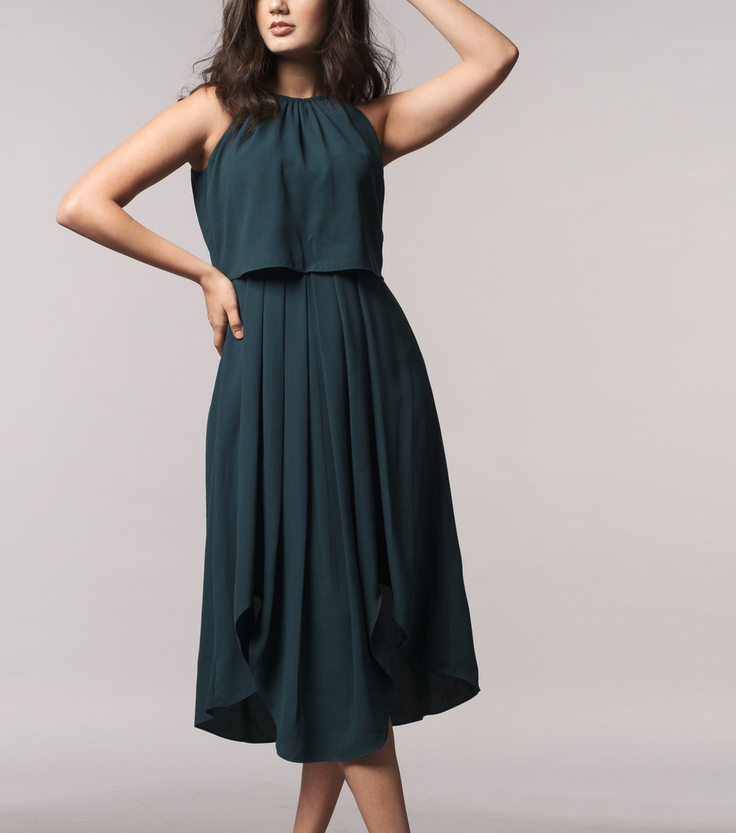 Lenna Layered Halter Dress