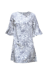 Hennesy Off White Floral Doodle Dress