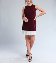 Load image into Gallery viewer, Levi Sleeveless Dress with Pleat Hem (Maroon)