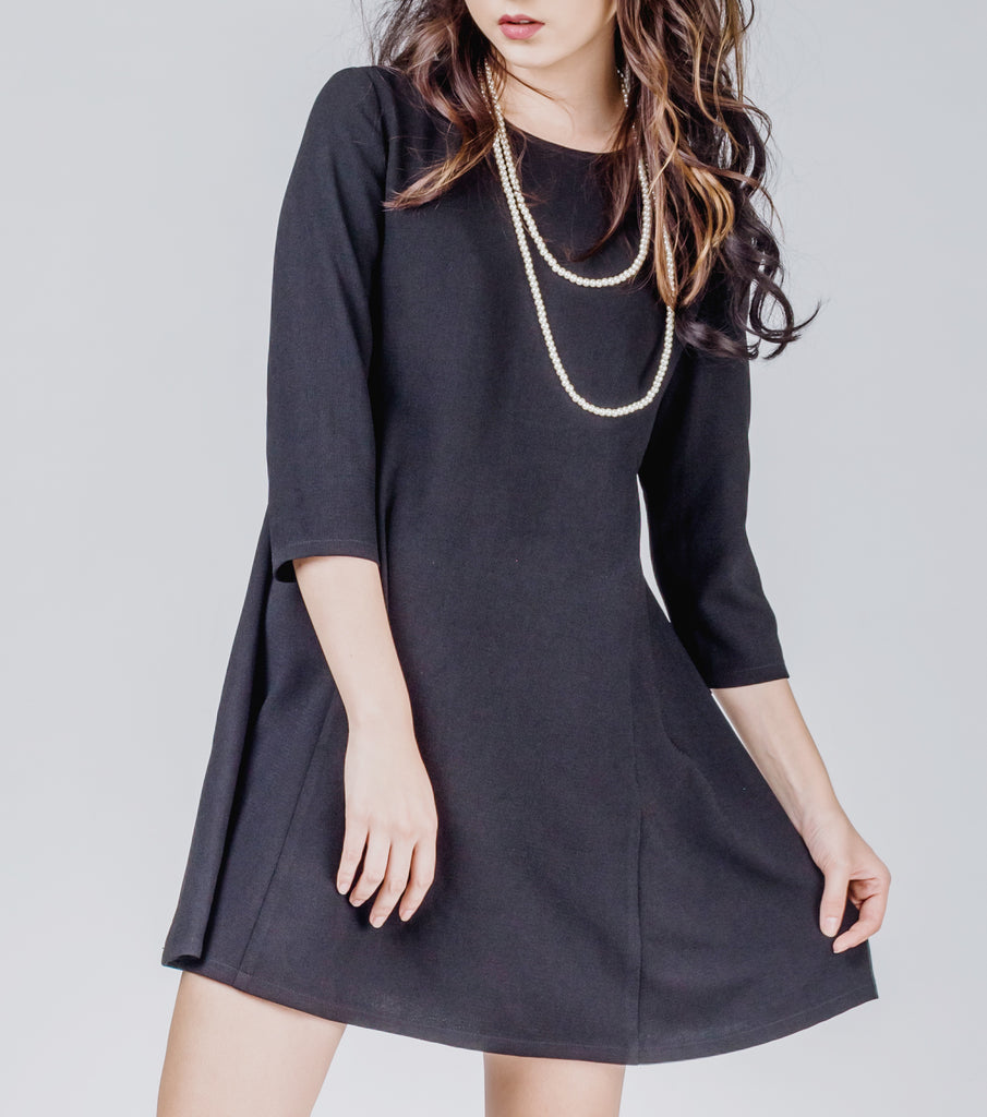Luna Scoop Neck 3/4 Sleeves Doll Dress