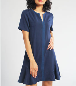Camille Jewel Neck Shift Dress