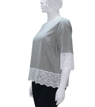 Load image into Gallery viewer, Elza Scoop Neck Lace Hem Top
