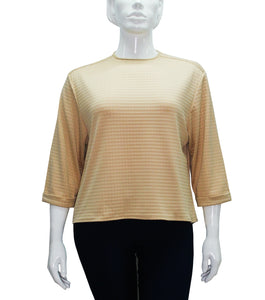 Dina 3/4 Sleeve Plus Size Textured Blouse