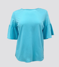 Load image into Gallery viewer, Helen Flare Sleeves Top (Plus Size)