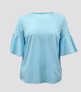 Helen Flare Sleeves Top (Plus Size)