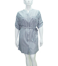 Load image into Gallery viewer, Lexi Mao Collar Shirt Dress