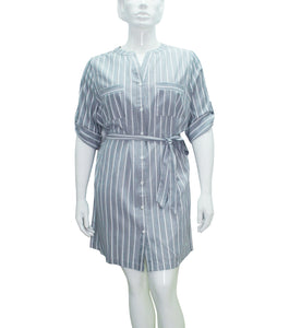 Lexi Mao Collar Shirt Dress