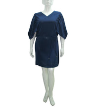 Load image into Gallery viewer, Irma Pleated Short Sleeves Shift Dress