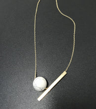 Load image into Gallery viewer, Lyza Gold Necklace w/ Marble Pendant