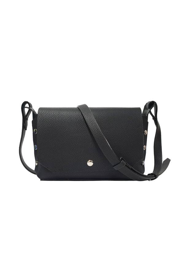 Flap w/ Stud Shoulder Bag
