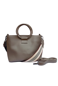 KD Faux Leather Round Handle Sling Bag