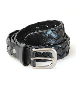 Leather Braided Belt (Black)