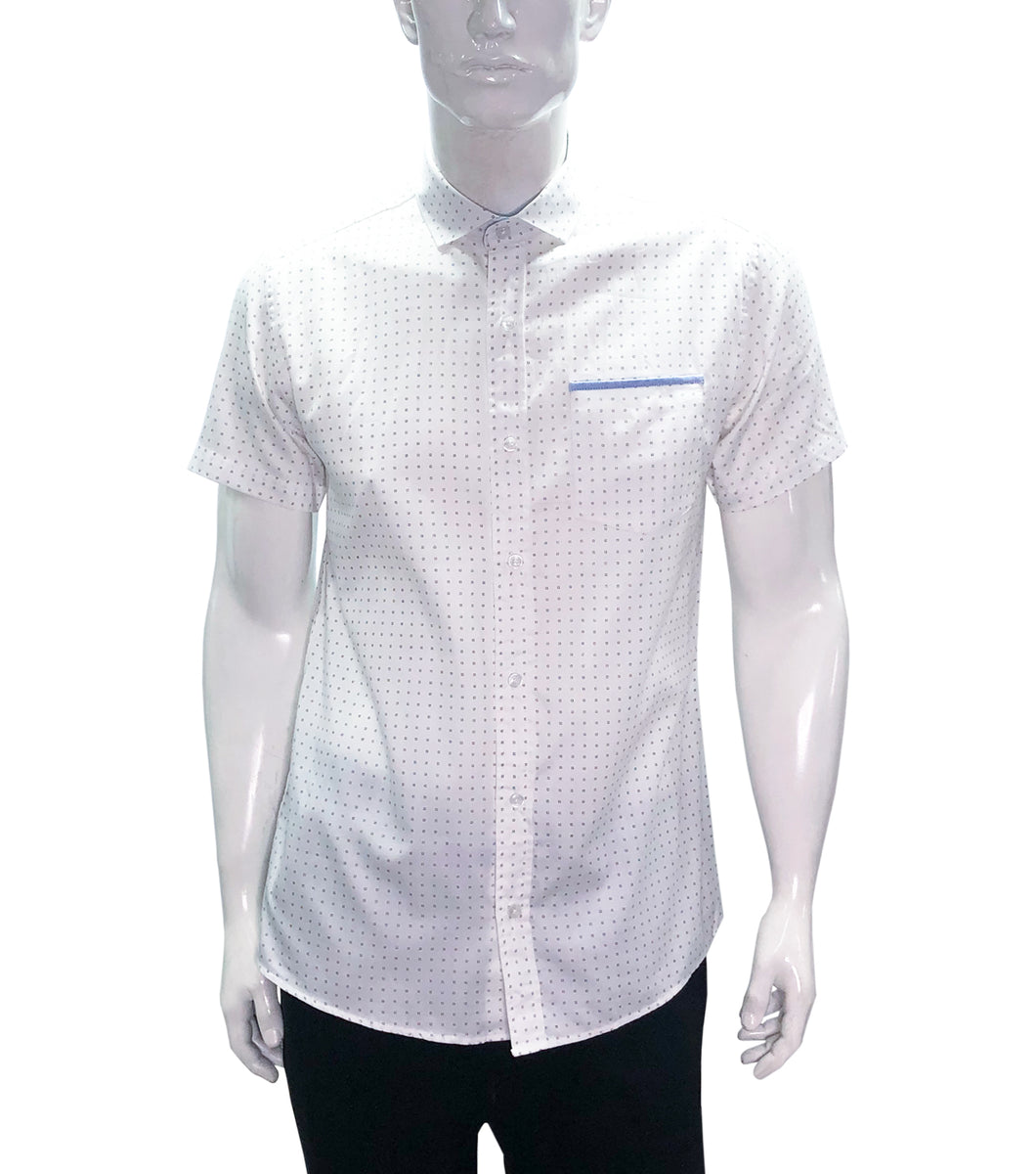 Henry Printed Button Down Polo Shirt