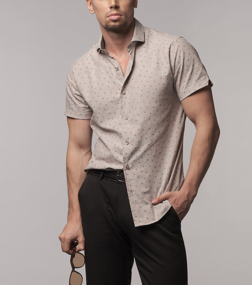 Ivn Printed Button Down Shirt