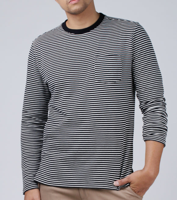 Lance Stripes Pull over Shirt