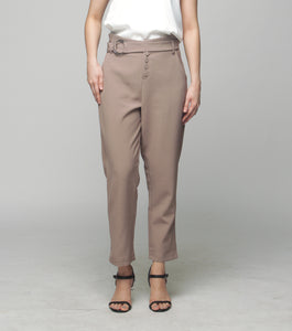 Carisse Long Pants w/ Self Fabric Belt