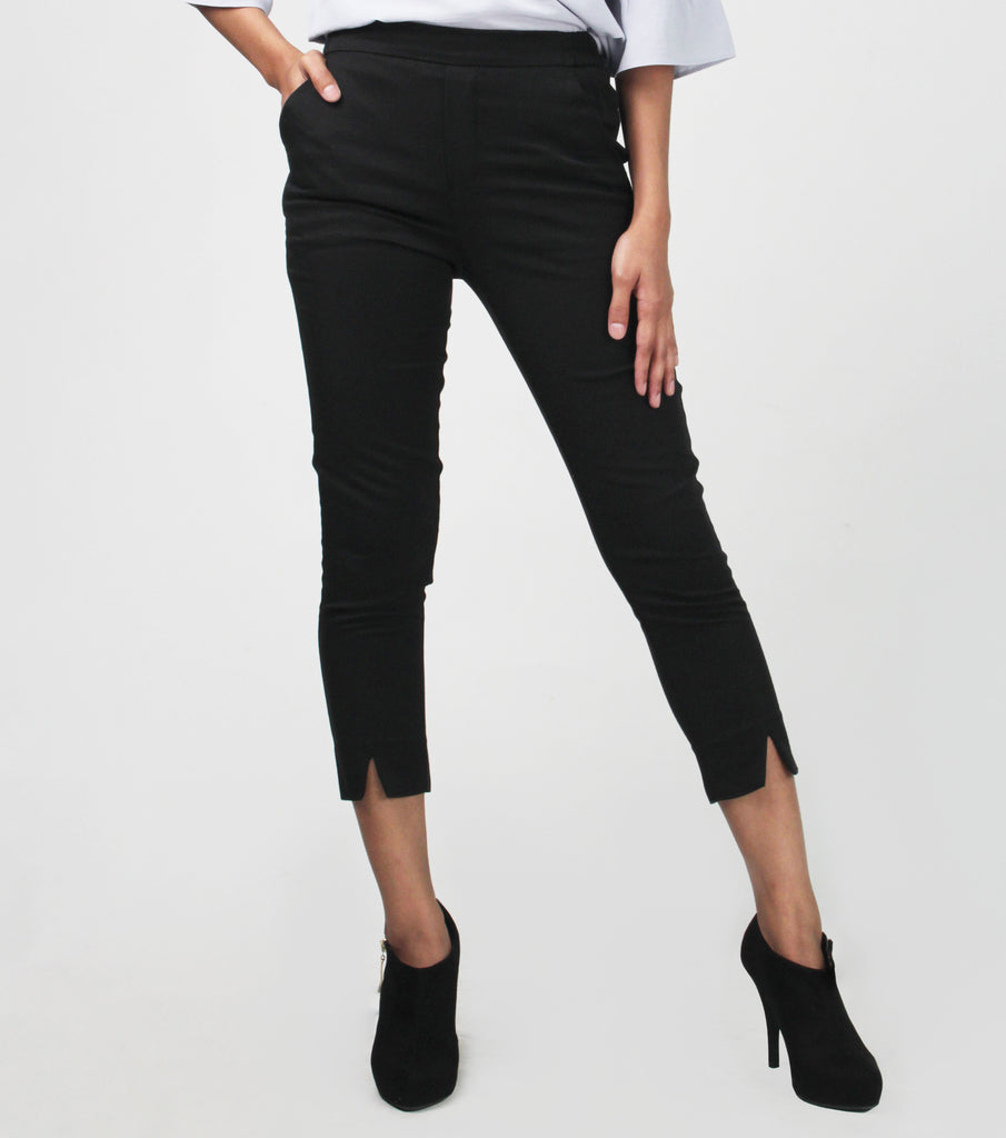 Iya Flat Front Tapered with Slit Pants