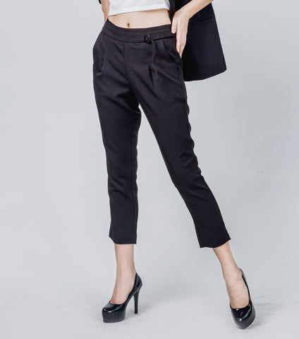 Ingrid Straight Cut Pants With Belt