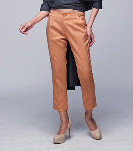 Luz Pintuck Tapered Pants w/ Tab