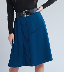 Lauryn A-line Skirt with Pleat Detail