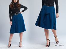 Load image into Gallery viewer, Lauryn A-line Skirt with Pleat Detail
